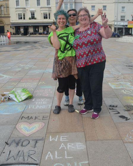 The event was organised by Extinction Rebellion Weston and the Friends of Grove Park. Picture: Peter