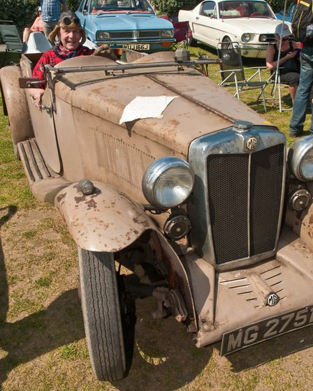 Looking the part, Mike Brockway and his MG 1933 K1 Tourer