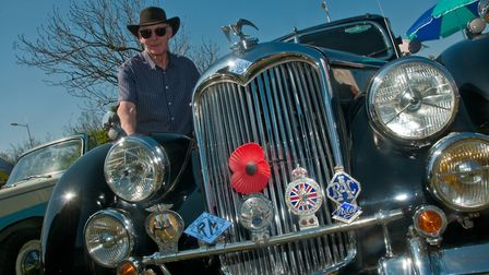 Pete Beament and his Riley RMB from 1949.
