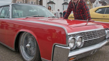 Richard Berry and his 1962 Lincoln Continental.