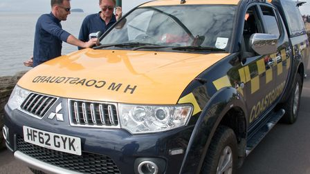 Burnham Coastguard Rescue Team made the woman comfortable while she waited for an ambulance.