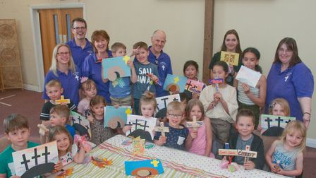 Around 60 youngsters enjoyed Easter-themed workshops. Picture: Mark Atherton