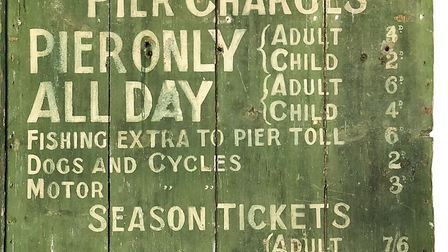 Clevedon Pier's price board from the 1940s. Picture: Clevedon Pier Archive Team