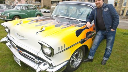 Paul Stamps with his '57 Chevrolet.