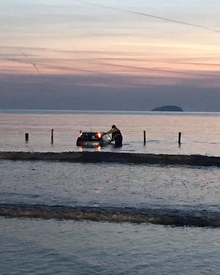 CRO Ross Windsor out with the car. Picture: Weston Coastguard