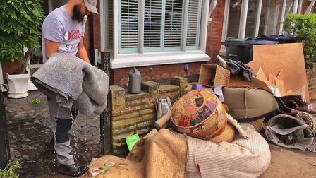 Stefan Hoole in Birmingham after the floods. Picture: Team Rubicon UK