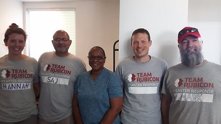 Mark Bradshaw and the team. Picture: Team Rubicon UK