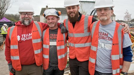 Team Rubicon UK supporting DIY SOS continuing work at Exford Close. Picture: MARK ATHERTON