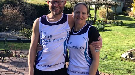 Helen and Nick Faubel are running for The Cure Parkinson's Trust