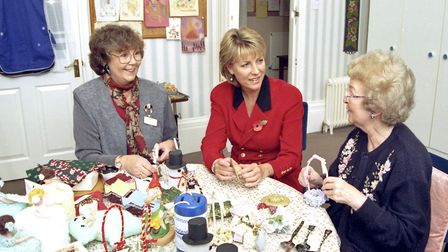 Jill Dando at the opening of Weston Hospicecare's new inpatient unit.