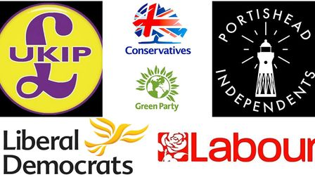 The political parties running in the local elections.
