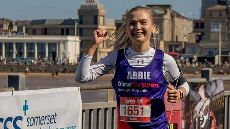 Abbie Elkins is running for Crimestoppers.