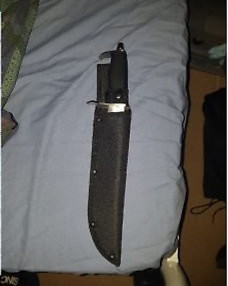 The hunting knife Ahmad used during the robberies Picture: Avon and Somerset Constabulary