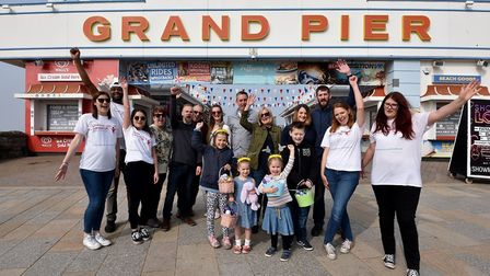 Children diagnosed with cancer enjoyed a day of fun at Weston's Grand Pier.