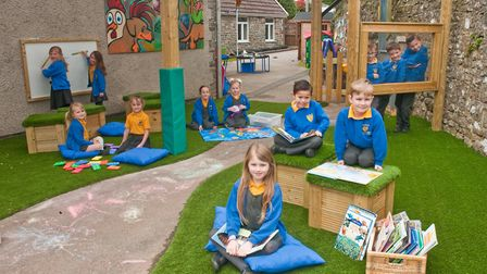The canopy will be used by years one and two pupils. Picture: MARK ATHERTON