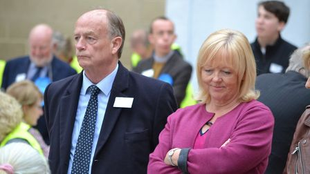 Cllr Nigel Ashton, with former Portishead councillor Felicty Baker. Picture; Eleanor Young