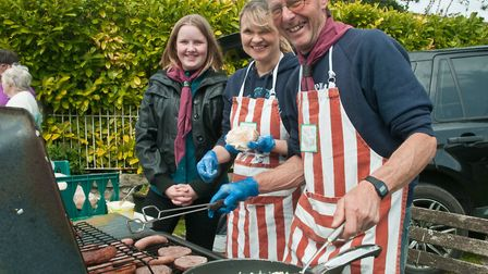 Shipham scout group cooking up some burgers at Shipham May Fair. Picture: MARK ATHERTON