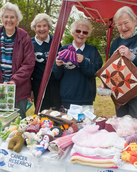 Yatton Cancer Research fund raisers at Claverham May Fair. Picture: MARK ATHERTON