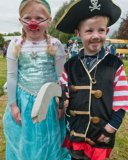 Fancy dress winners Eliza and Percy at Claverham May Fair. Picture: MARK ATHERTON