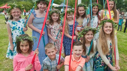 May Pole dancers at Claverham May Fair. Picture: MARK ATHERTON