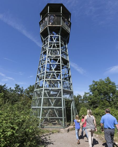 The Lookout Tower after its £100,000 restoration. Picture: Longleat Enterprises