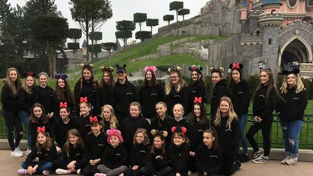 The group performed at Disneyland Paris.Picture: Jacqueline Fox