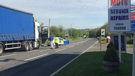 Collision on the A370. Picture: Lily Newton-Browne