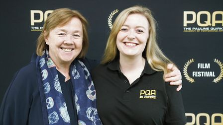 Academy principal Lydia MacRitchie with Pauline Quirke.