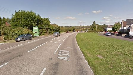 Part of the A370 is closed this morning after yesterday's crash. Picture: Google Maps