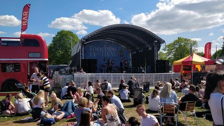 The stage at the Bristol Foodies Festival. Picture: Eleanor Young