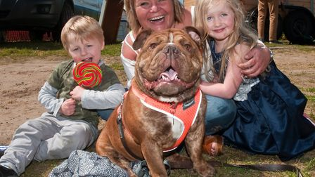 Parka with Elija, Eefie-Rose and their Aunty Claire. Picture: MARK ATHERTON