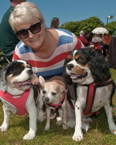 Jo Rogers with Rupert, Ki and Molly. Picture: MARK ATHERTON