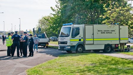 Bomb scare at Appletree Court in Worle. Picture: MARK ATHERTON