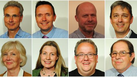 North Somerset Council's new look executive. Top row: Don Davies, Mike Bell, Mark Canniford, Ash Car
