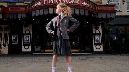 Olivia Cleverley, one of the four actresses who share the role of Matilda in the Royal Shakespeare C
