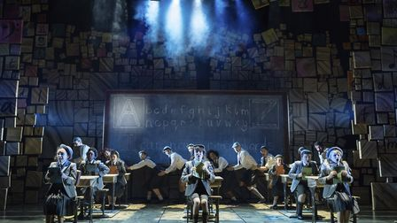 The cast of Matilda: The Musical which opened at the Bristol Hippodrome this week. Picture: Manuel H