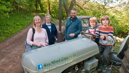 Visitors enjoying Hay Wood Bluebell Open Weekend at Hay Wood Logging Co in Hutton. Picture: MAR