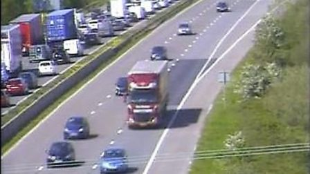 There has been a multi-vehicle accident on the M5 today.Picture: Traffic England