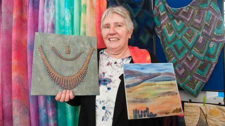 Beads, embroidery and textiles by Elke Davies. North Somerset Arts Week at Congresbury. Picture: