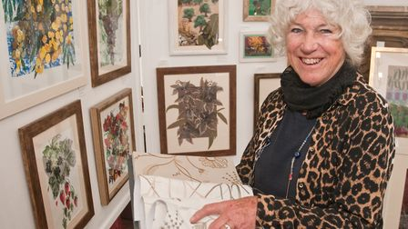 Fabric collages by Anne Carpenter. North Somerset Arts Week at Congresbury. Picture: MARK ATHERTO