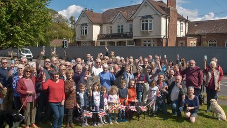 Campaigners celebrating planning permission being refused for Lord Nelson at Cleeve to be turned int