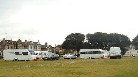 Travellers have left a site at Beach Lawns.Picture: Nick Page Hayman