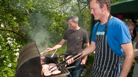 Scouts BBQ at Winscombe May Fair. Picture: MARK ATHERTON