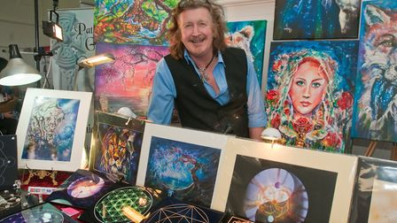 Psychic artist Patrick Gamble at Westons Psychic & Holistic Festival. Picture: MARK ATHERTON