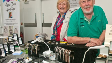 Frank and Julia Richards Magnetic Jewellery at Westons Psychic & Holistic Festival. Picture: MARK