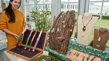 Jay Jethuas Jayleah Designs at Westons Psychic & Holistic Festival. Picture: MARK ATHERTON