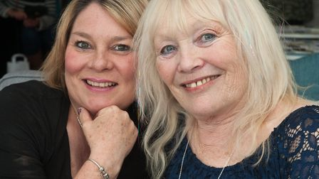 Karen Pryce and Croker, organisers of Westons Psychic & Holistic Festival.Picture: MARK ATHERTON
