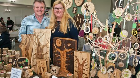 Angela and Peter Crutchley with Natures Messages at Westons Psychic & Holistic Festival. Picture