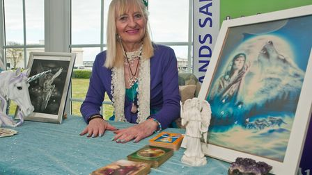 Angel card reader and Reiki healer Riana George at Westons Psychic & Holistic Festival. Picture: