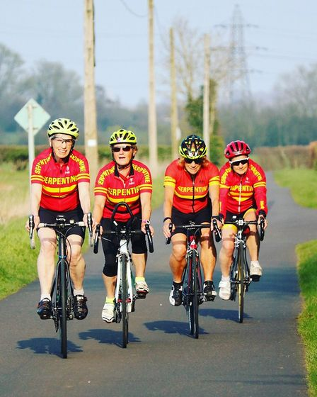The Serpentine Golden Girls cycling team. Picture: Joanna Armitage